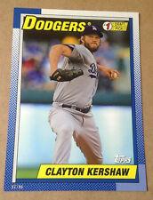 2015 Topps 1990 #1 Draft Picks 5x7 Version (#/99 Made) CLAYTON KERSHAW Dodgers