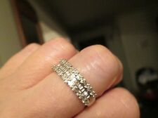 REDUCED!!!  ZALES 10K WHITE GOLD 1 CT. DIAMOND BAGUETTE  RING BAND! sz 8.75