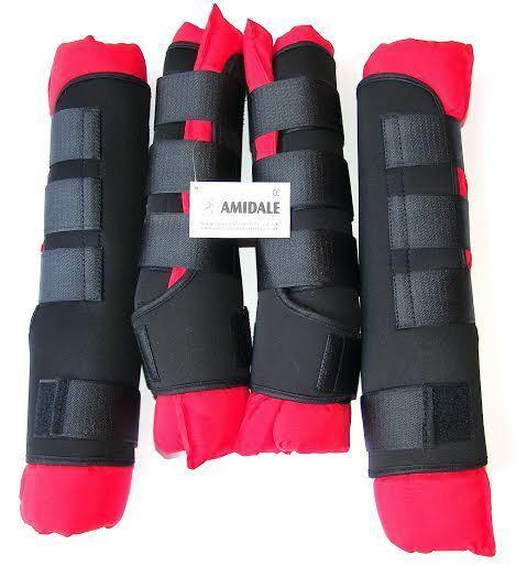Amidale Pferd Stabil Stiefel/Tücher, Reise Stiefel, 5 Farbes, Set Set Set 4 Stiefel ea0118