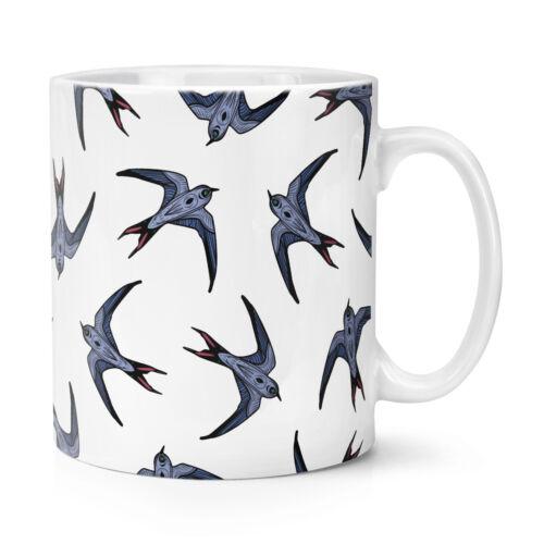 Schwalben Fliegende Muster 284ml Becher Tasse Vögel Tiere