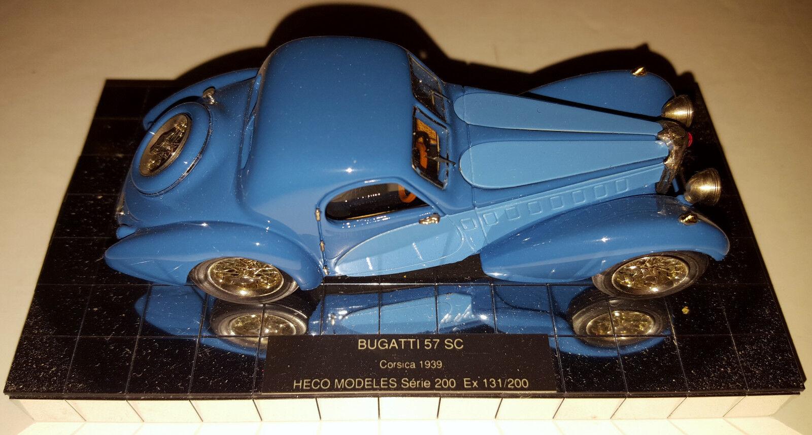 Heco Modeles M 1 43 1939 Bugatti 57 SC Corsica - Two Tone bluee Beauty   200