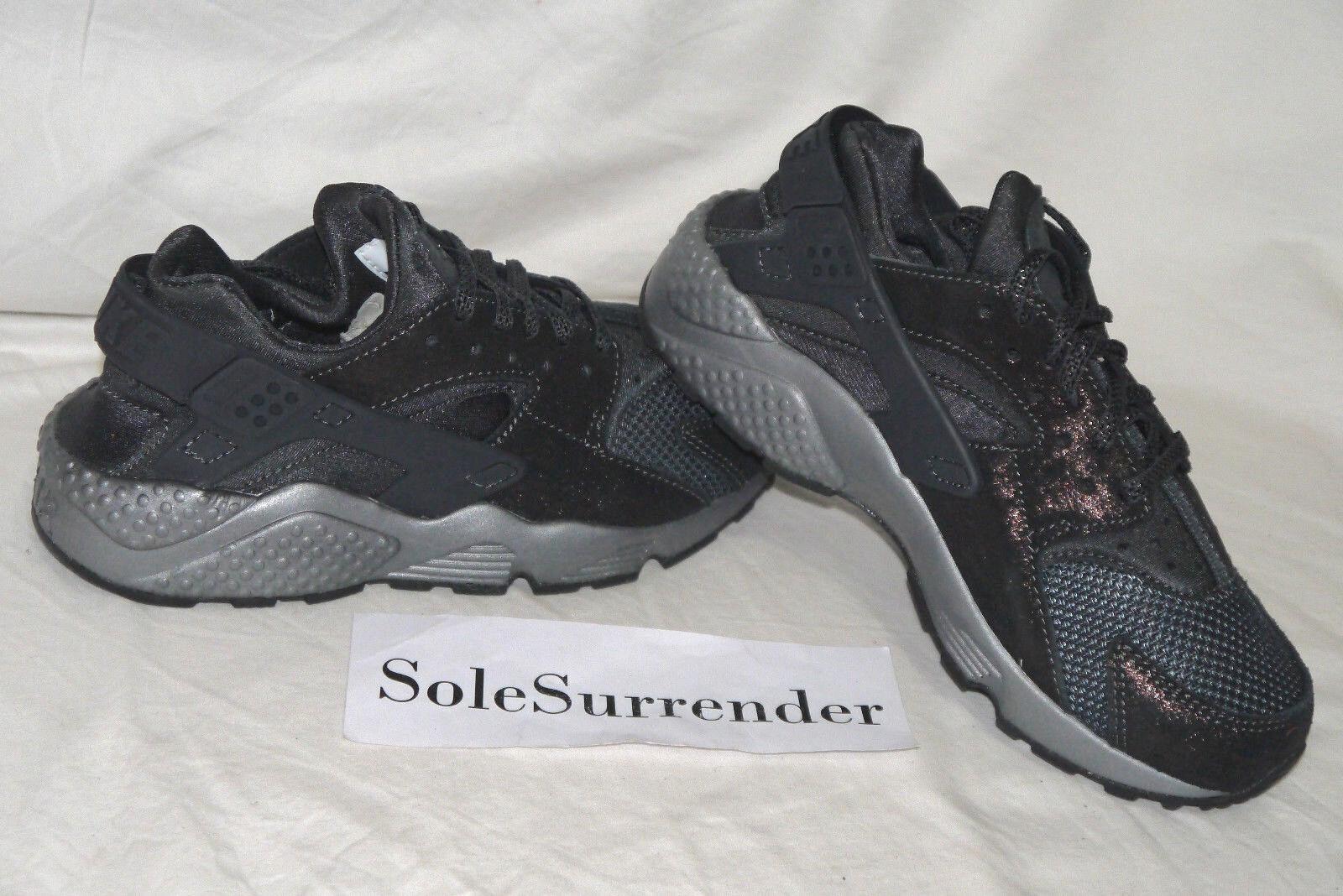Women's Nike Air Huarache Run PRM - SIZE 6.5 - 683818-004 Black Grey Anthracite