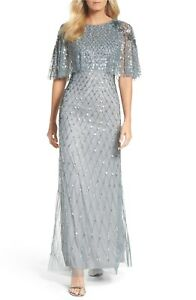 4e3800f3a3bd Image is loading NWT-Adrianna-Papell-Popover-Bodice-Beaded-Gown-in-