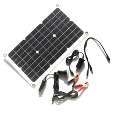 20w Solar Panel 12v Trickle Charge Battery Charger Maintainer Marine Rv Car