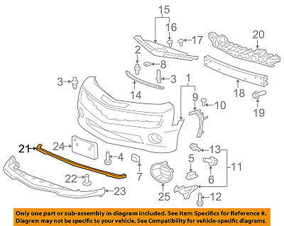 Chevrolet GM OEM 13-15 Malibu Front Bumper Grille-Lower Deflector 22842404