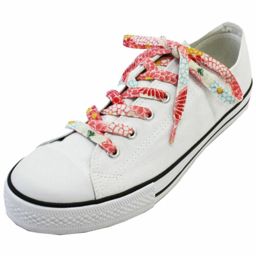 Japanese Chirimen Shoelaces for Sneakers 117cm 46inch Light Pink