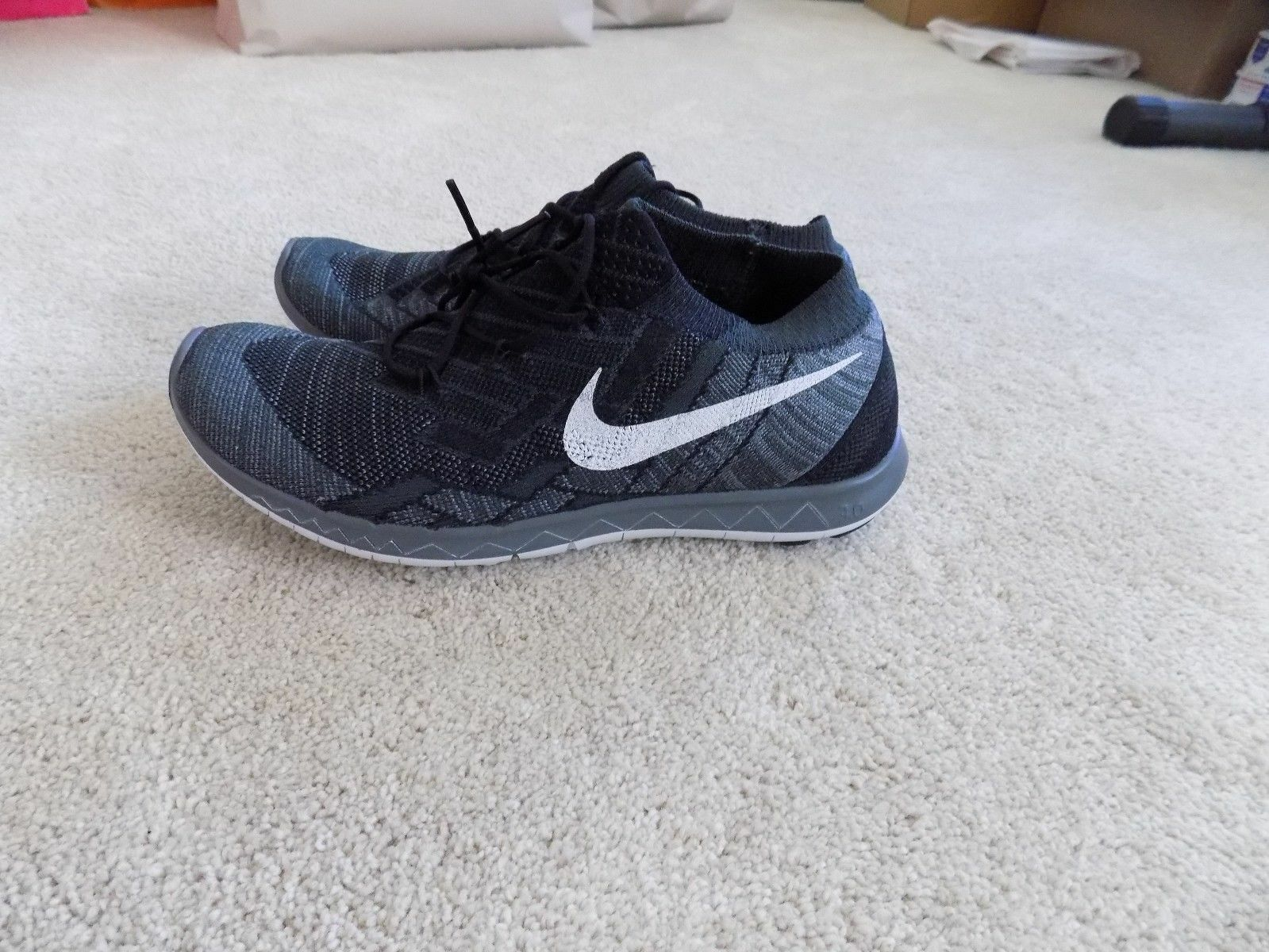 81c72fb0c47a6 NEW WOMENS 6 6.5 8 NIKE FREE FREE FREE 3.0 FLYKNIT RUNNING SHOES BLACK GREY  WHITE 718420 4a7fd1