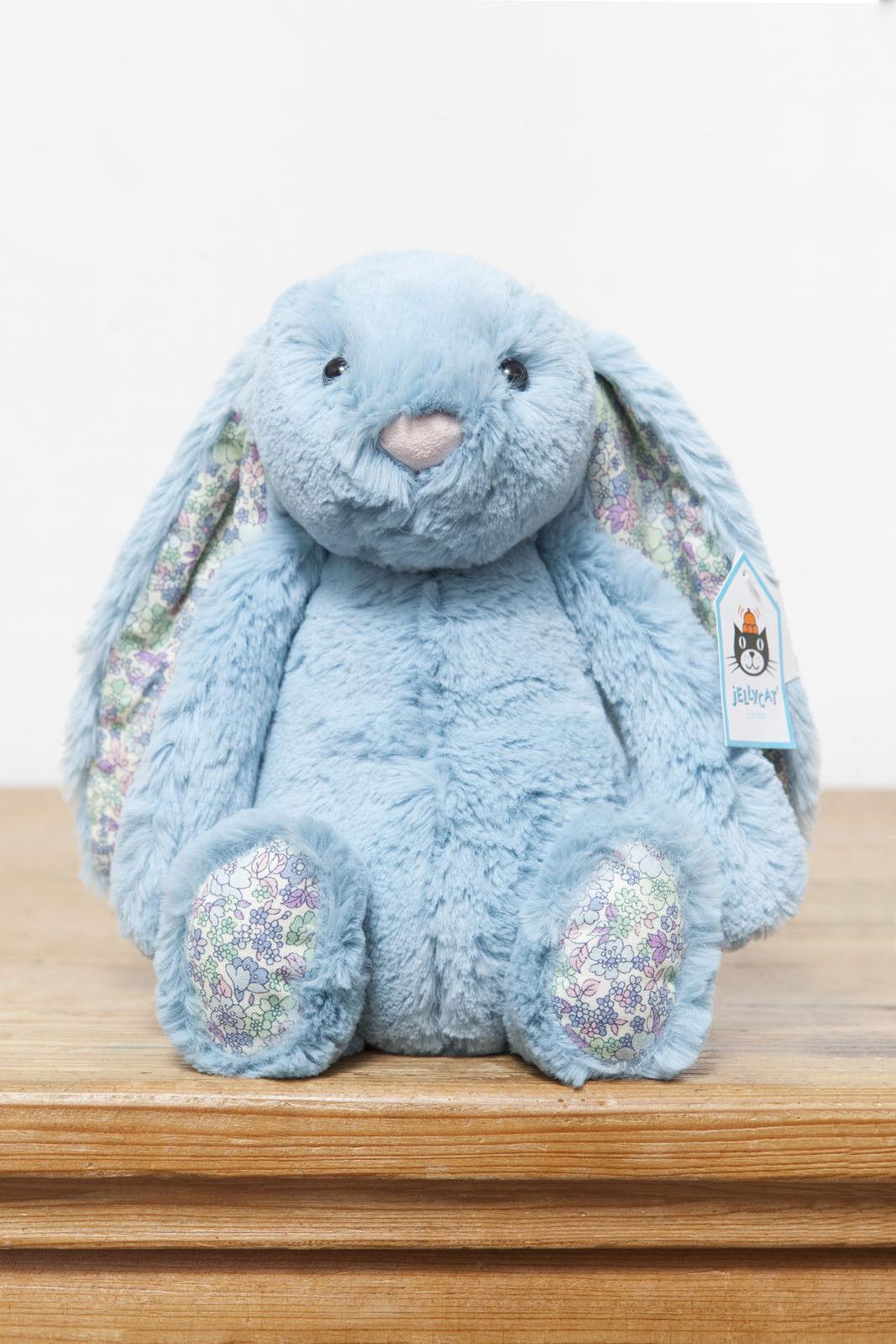 Jellycat Medium Bashful Blossom Aqua Bunny Rabbit