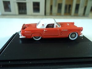 1:87 1956 Fiesta Red /& Colonial White Oxford Diecast Ford Thunderbird