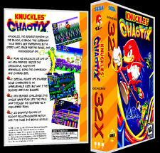 Knuckles Chaotix - 32X Reproduction Art Case/Box No Game.