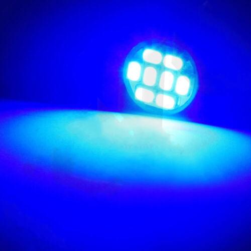 10X Blue T10 168 5SMD LED Instrument Panel Light bulbs Sockets PC194