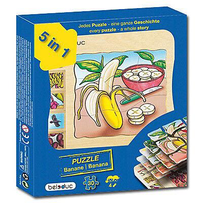 Puzzle Banane  (Entstehung von Bananen) , Lagenpuzzle - 17049, Beleduc