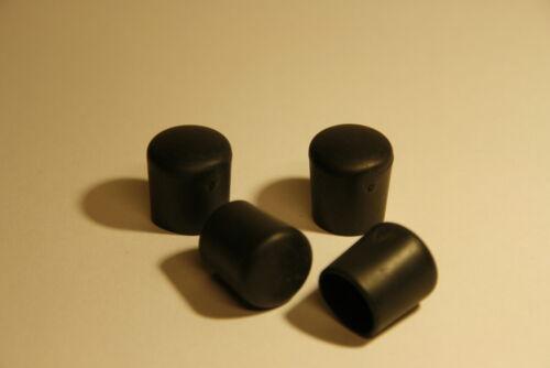 Lot de 100 embouts ronds 25mm pour chaises bouchons noirs PVC enveloppant