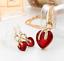 Women-Heart-Pendant-Choker-Chain-Crystal-Rhinestone-Necklace-Earring-Jewelry-Set thumbnail 6