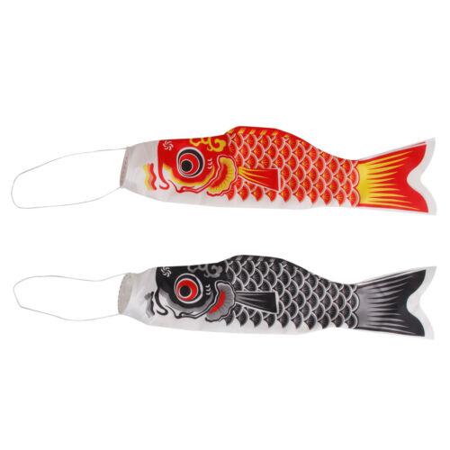 environ 149.86 cm Koinobori japonais carpe Wind Chaussette Koi nobori poisson Drapeau Windsock 2 pcs 59 in