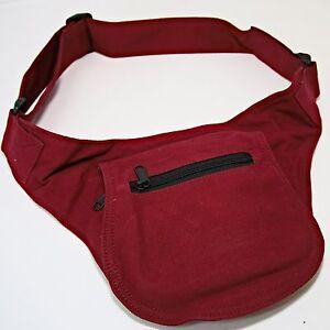 Guerteltasche-Huefttasche-Tasche-Psy-Goa-Hippie-Hip-Bag-Baumwolle-Sidebag-Rot