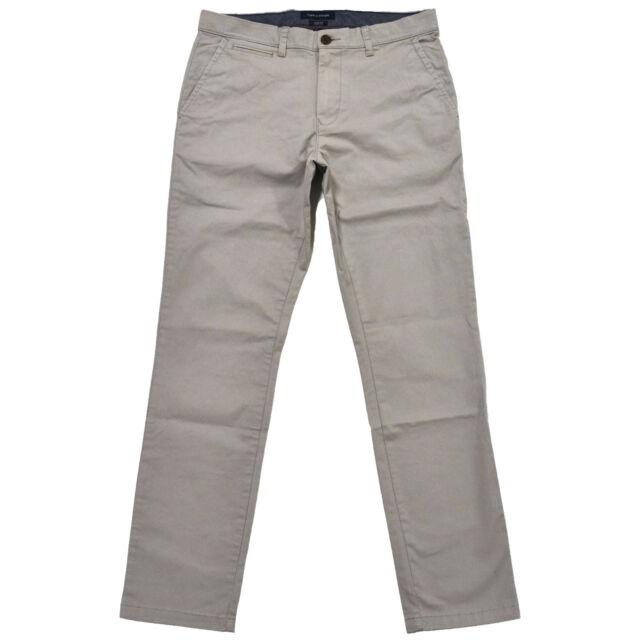 809f89e2 Tommy Hilfiger Pants Mens Chinos Slim Fit Flat Front Khakis Flag ...