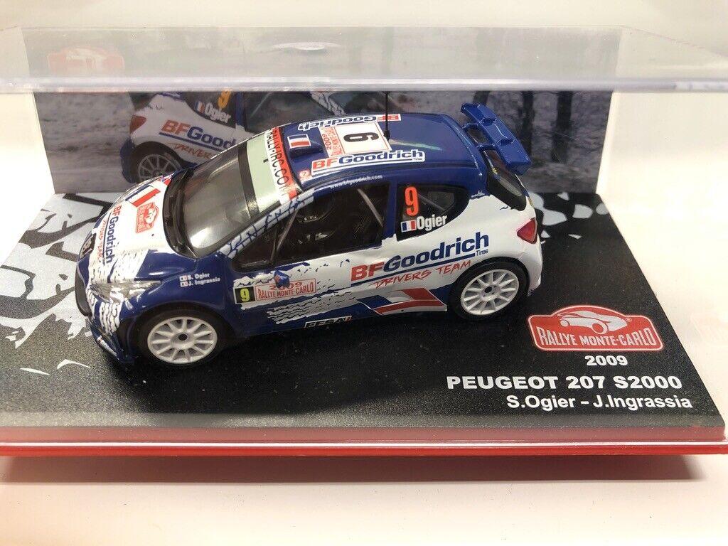 Peugeot 207 s2000 ogier ingrassia 2009 voitu mythiques rallye monte-carlo 1 43