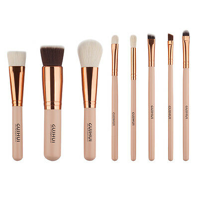 8pc Pennelli Make Up Cosmetic Brush Foundation Eyeliner Lip Brush Trucco Set