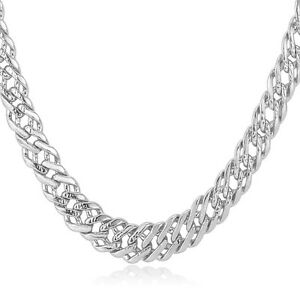 Classic Venitian Chain Necklaces 6MM 18K Rose GoldPlatinum Plated
