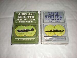 2 New & Sealed Magicien/poker Cartes à Jouer Airplane Spotter & Naval Spotter-afficher Le Titre D'origine Prix ModéRé