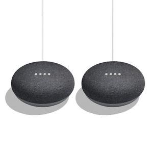2 Pack Bundle - Google Home Mini (Charcoal)