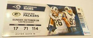 2018 Los Angeles Rams Green Bay Packers Nfl Football Full Ticket Stub Ebay