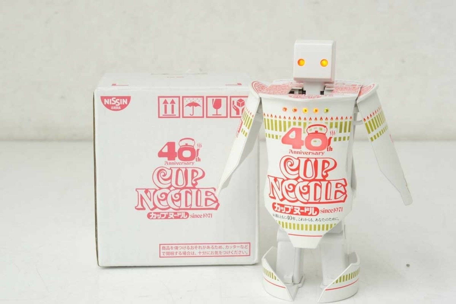 Nissin Cup Noodle 40th Anniv Lottery PrizeTransformer Talking Dancing Robo NEW