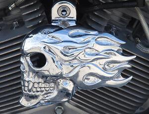 Motors For Sale >> Flaming skull horn cover in polished aluminum. '92-up ...