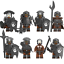 Uruk Hai LEGO*kompatibel Spielzeug 2020 Neu 8 Minifiguren Orks Herr der Ringe