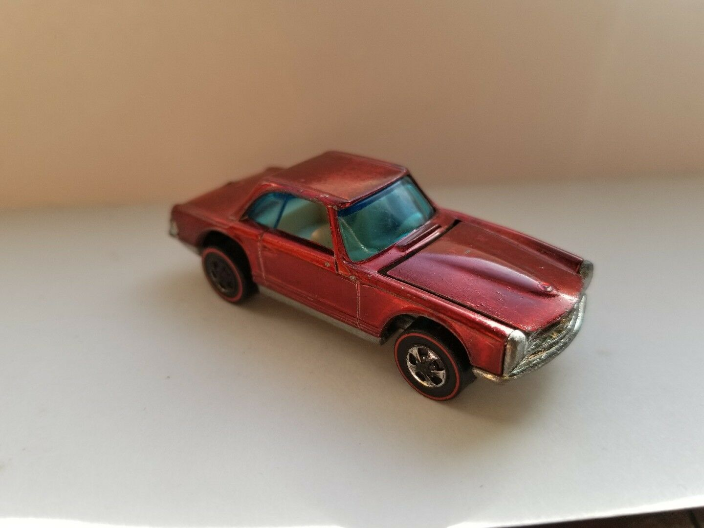 Rojo Mercedes Benz 280SL Hot Wheels rojoline Hk Interior blancoo 1969 Clean