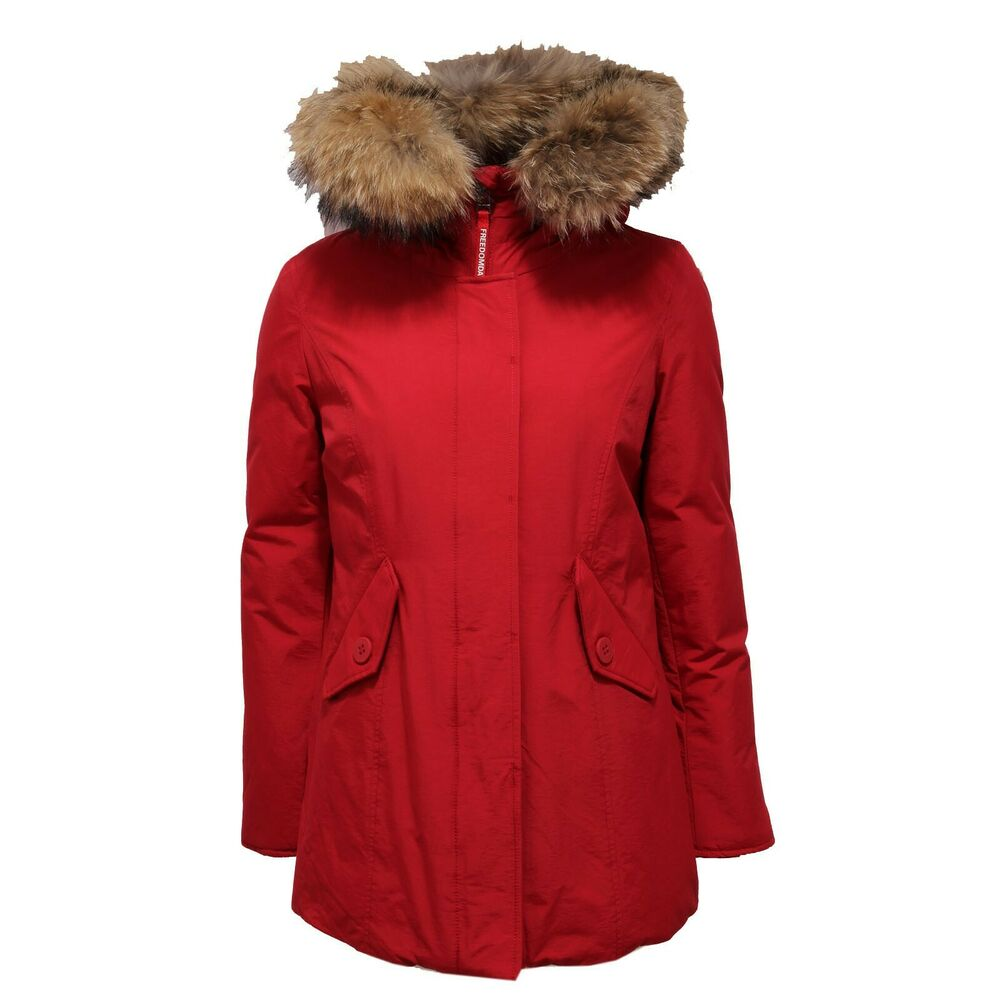 1484ac Giubbotto Donna Freedomday New Chamois Red Jacket Women