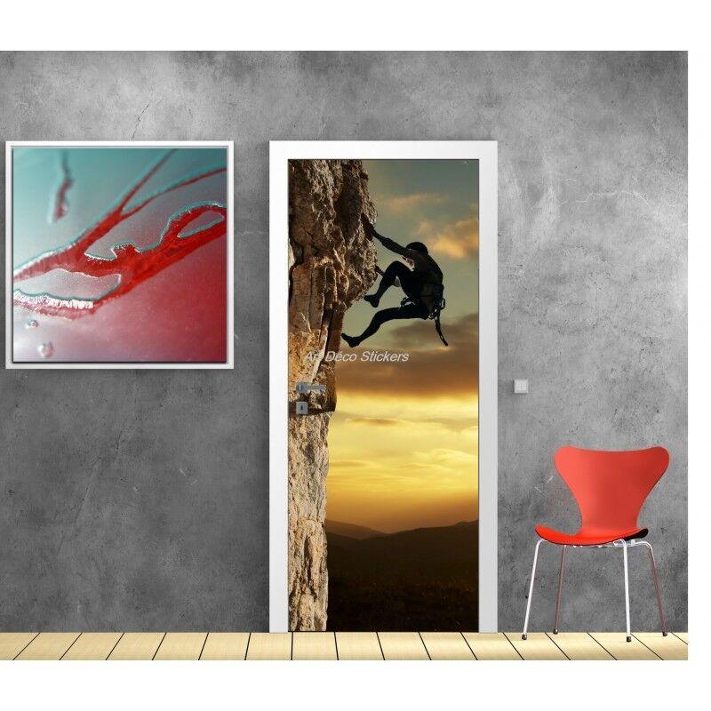 Cartel Póster para Puerta Trampantojo Escalada 598 Arte Decoración Pegatinas