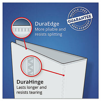 """Burgundy Avery Durable EZ-Turn Ring Reference 2/"""" Binder AVE27552 11 x 8-1//2"""
