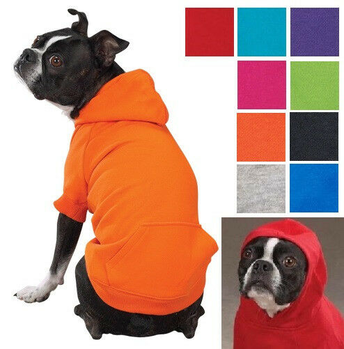 ZACK & ZOEY HOODIE, 9 Colors, 6 Sizes! Basic Dog Puppy Sweatshirt Sweater Shirt