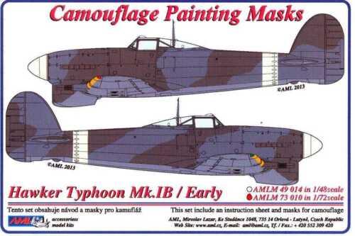 AML Models 1//72 CAMOUFLAGE PAINT MASKS HAWKER TYPHOON Mk.IB Early Version