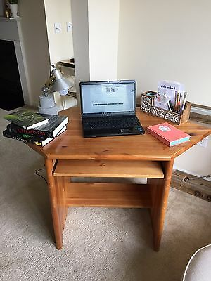 Hardwood Corner Writing Desk For Small