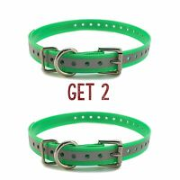 Sparky Petco 1 2- Green Reflective Square Buckle High Flex Dog Strap