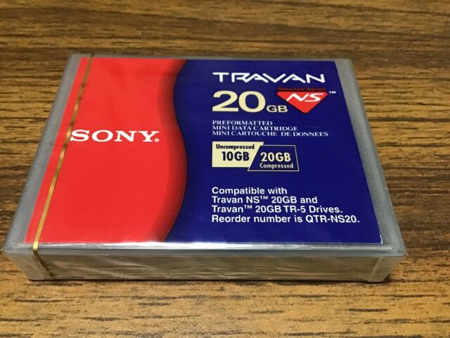 Sony QTR-NS20 - New Sealed Travan 10/20GB NS-Mini Data Cartridge
