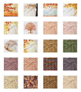 Ambesonne Autumn Fall Decorative Satin Napkins Set of 4 Party Dinner Fabric