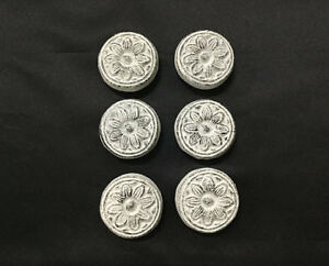 Details About Set Of 6 Cast Iron Antique White Sunflower Drawer Pulls Cabinet S