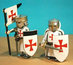 Playmobil-custom-2-caballero-cruzado-templario-crusader-Chevalier-Temple-knight