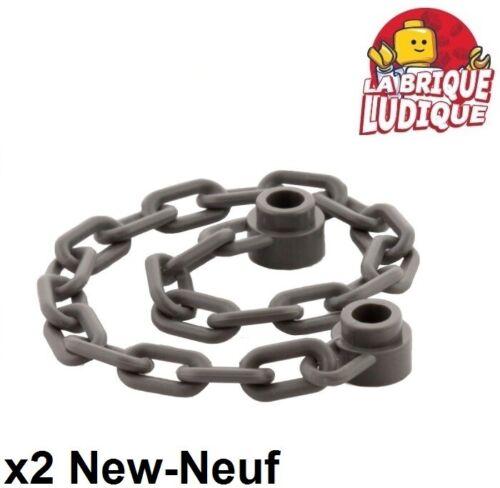 2x Chain Chain 21 Links Dark Grey//Dark Bluish Gray 30104 New Lego