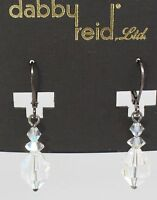 Dabby Reid Women's Clear Hand Crafted Crystal Drop Earring Jewelry