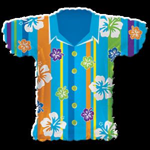 65cm Luftballons Folienballon xxl Geburtstag Deko Party Hemd Hawaii Shirt ca