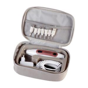 Quigg-Manikuere-Pedikuere-Set-Nagelpflege-Fusspflege-mit-7-Aufsaetzen-und-LED