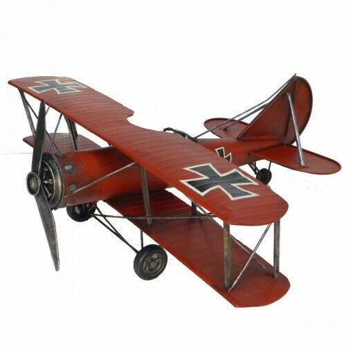 Boyle Classic 60cm  rouge Baron Biplane Vintage Model Collectibles Home Decor  abordable