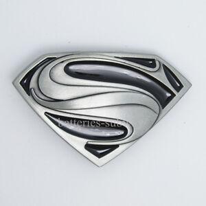 c127db252e8 New Man of Steel Superman Superhero Western Men Metal Silver Belt ...