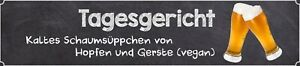 Tagesgericht - Beer Road Sign Tin Sign Street Sign 10 X 46 CM WW0054