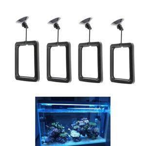 Satz-Von-4-Aquarium-Fuetterungsring-Mit-Schwimmender-Futterzufuhr-Mit-Saugnapf